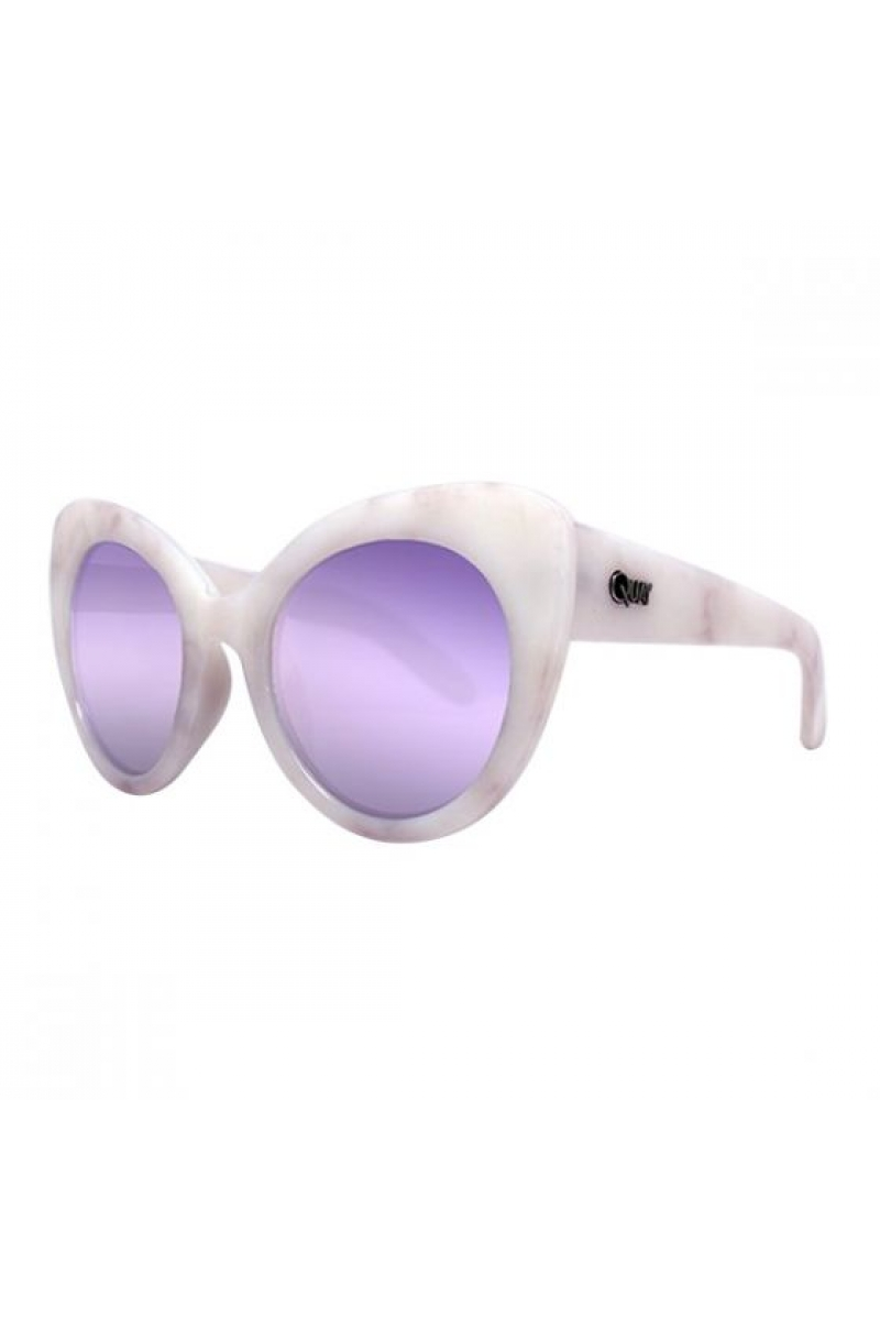3b789caced Quay Australia Screamin Diva White Marble and Purple Sunglasses