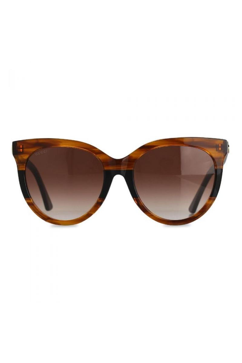 76fccdc3f4 Gucci - Round Brown Gradient   Havana Sunglasses