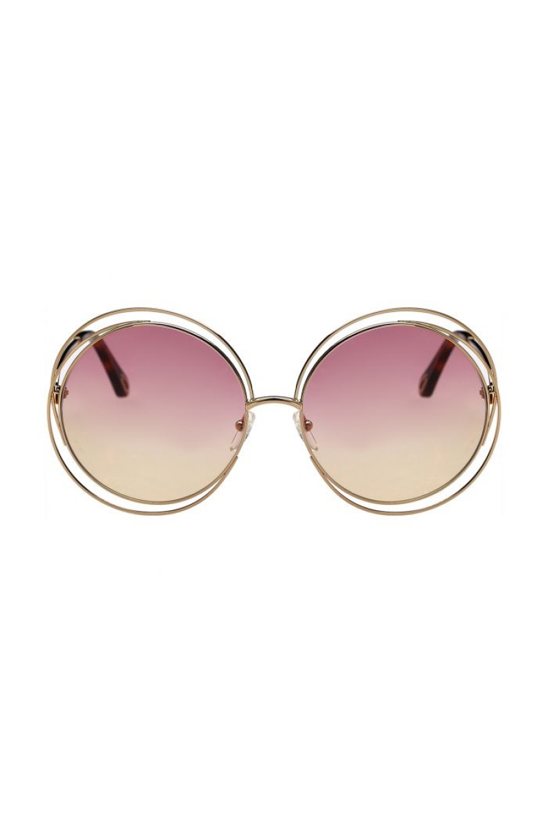 1f313f6a21 Chloe - Carlina Round Pink   Gold Havana Grad Rose Honey Sunglasses